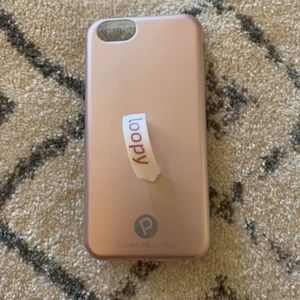 Blush pink loopy phone case (for iPhone 6)